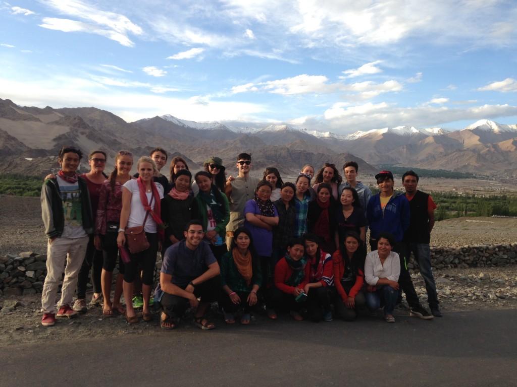 A beautiful view of the Ladakh mountain range